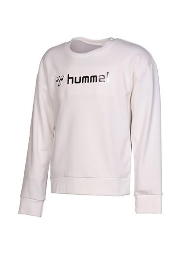 Hummel Hummel 9208339003 Chayna Bisiklet Yaka Baskılı Kız Çocuk Sweatshirt Beyaz